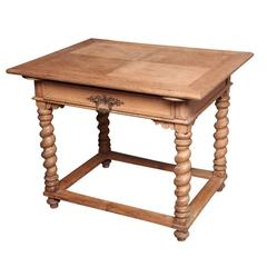 19th Century French Table Turned-Leg Table