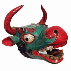 Ceremonial Ox Mask from Bhutan