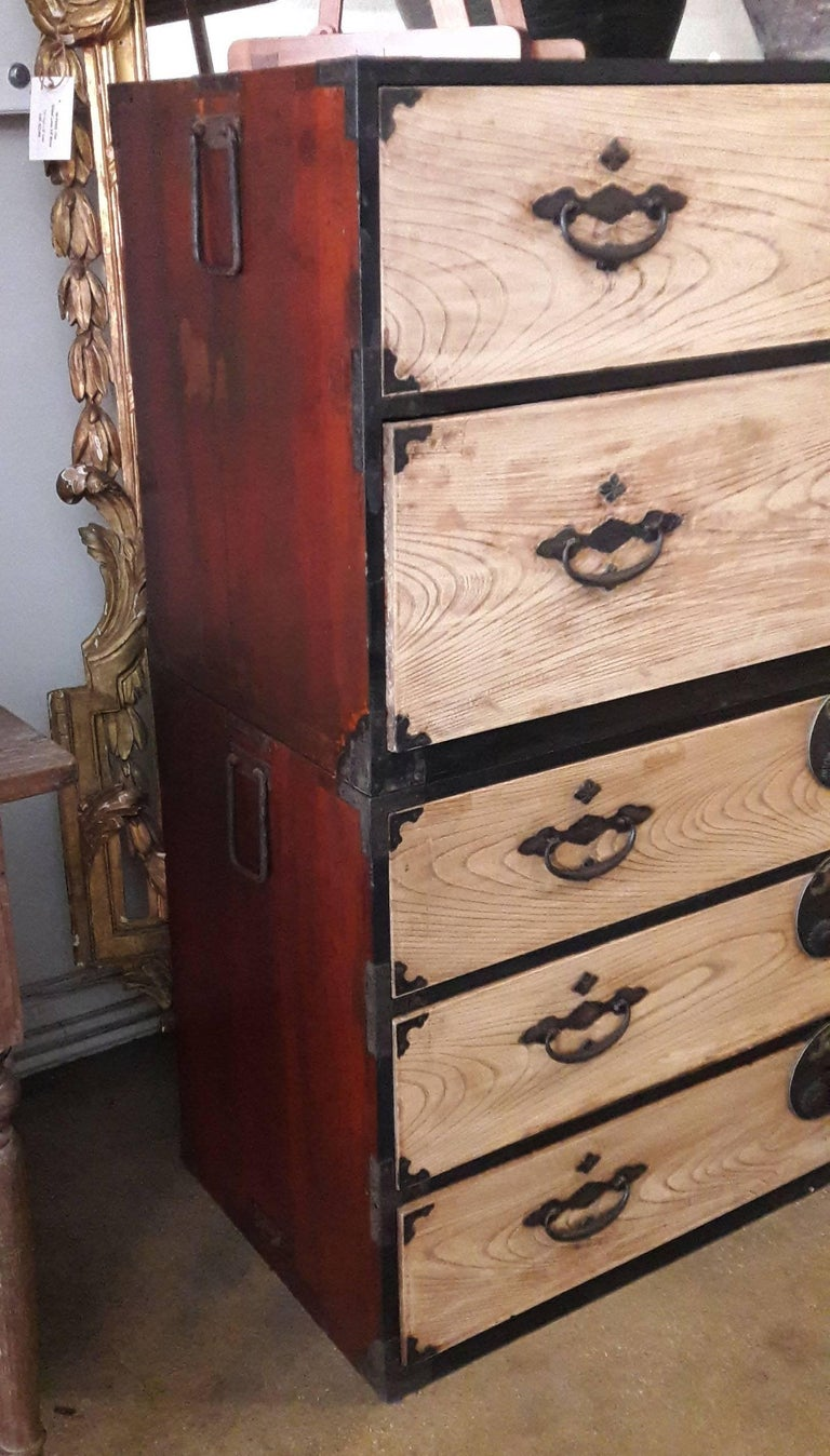 Etched Tansu Chest from Japan, Showa Period, Mid-20th Century For Sale