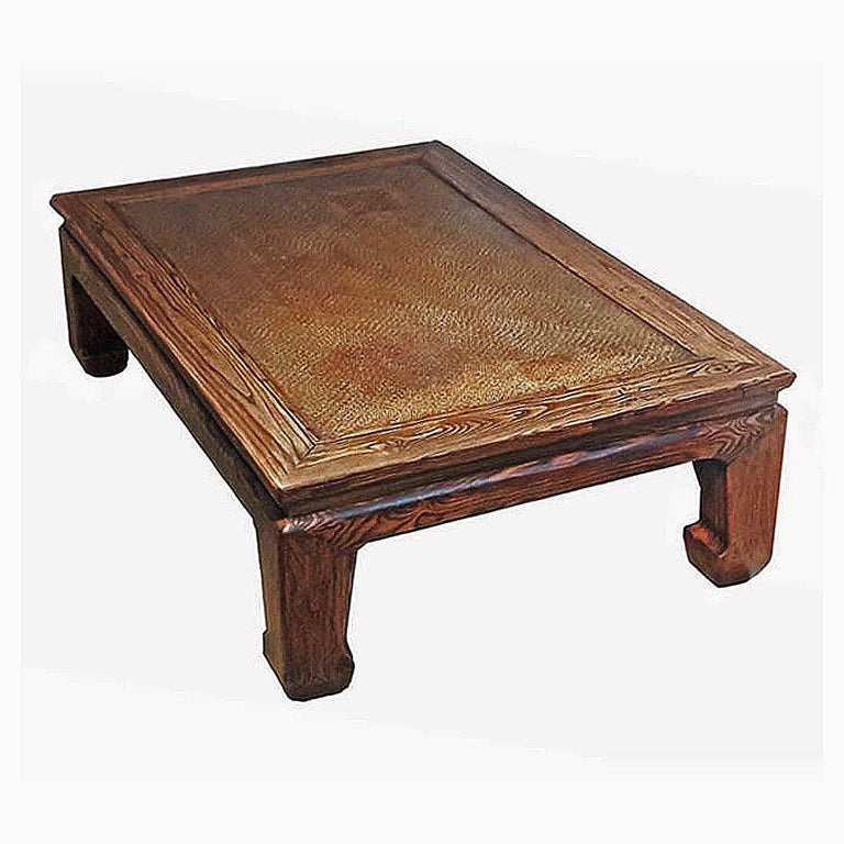 Qing 19th Century Elm Wood Coffee Table from China For Sale