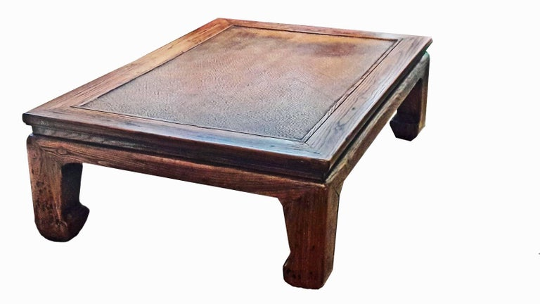 19th Century Elm Wood Coffee Table from China For Sale 2