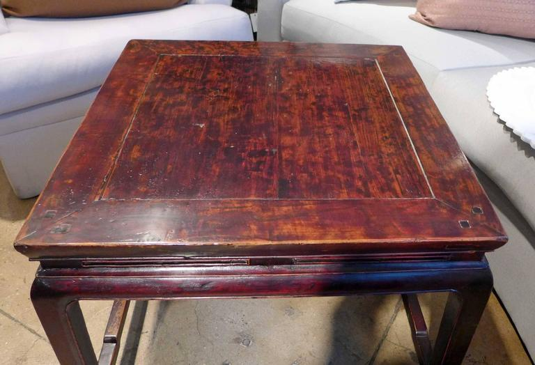 Chinese Square Coffee Table For Sale