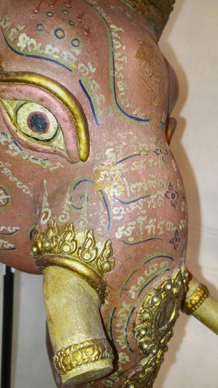 Thai Ganesha Khon Elephant Dance Mask For Sale