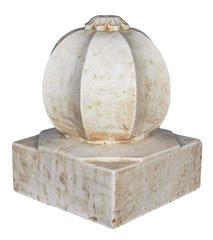 Large White Marble Carpet Weight from India