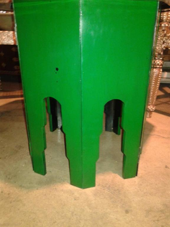 Thai Green Octagonal Side Table  For Sale