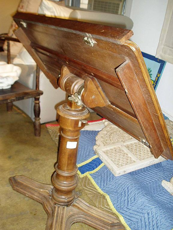 French Walnut Adjustable Table,