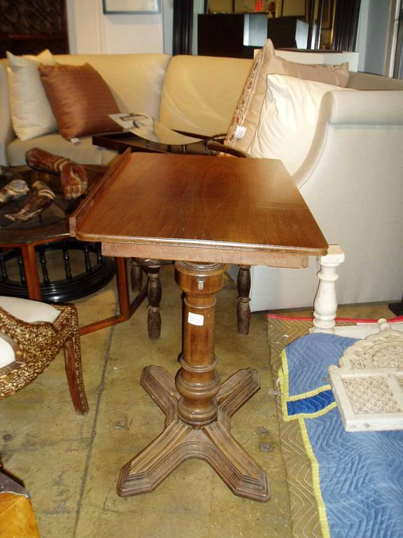 Carved Walnut Adjustable Table,