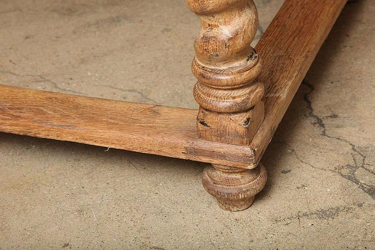 Carved 19th Century French Table with turned legs For Sale