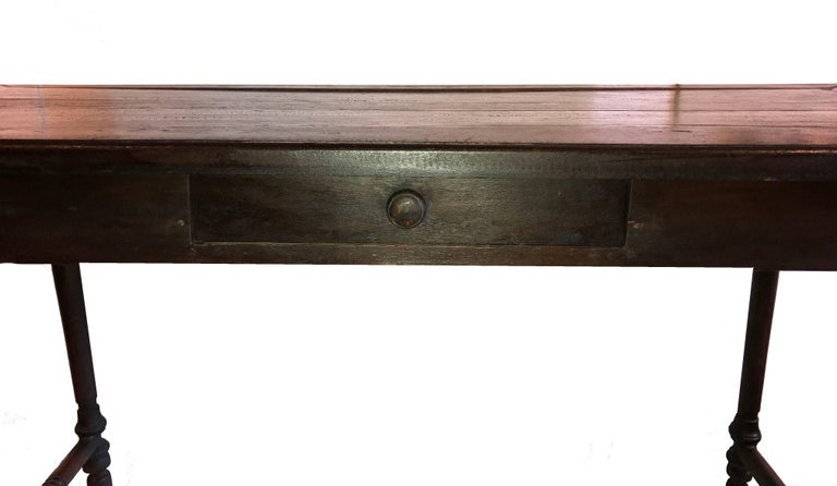 Vintage One Drawer Desk from Indonesia In Good Condition For Sale In New York, NY
