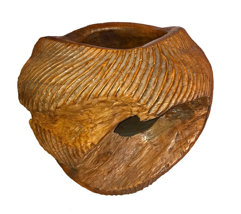 Indonesian Carved Ironwood Bowl from Indonesia For Sale