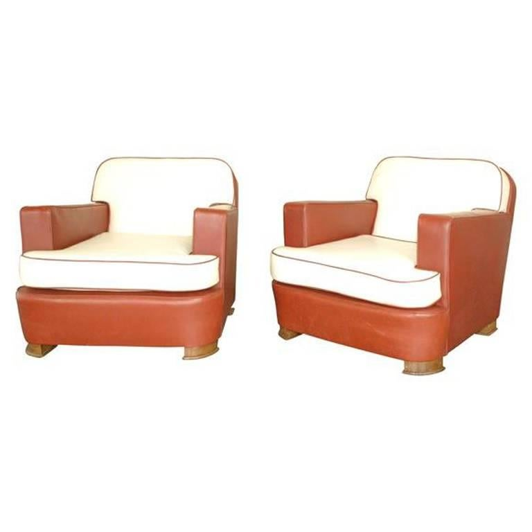 Pair of 1940s Armchairs by Jean Pascaud