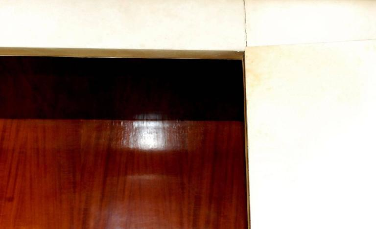 French Art Deco Style Parchment Armoire For Sale 2