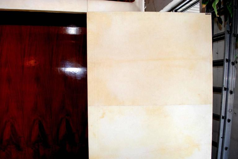French Art Deco Style Parchment Armoire For Sale 3
