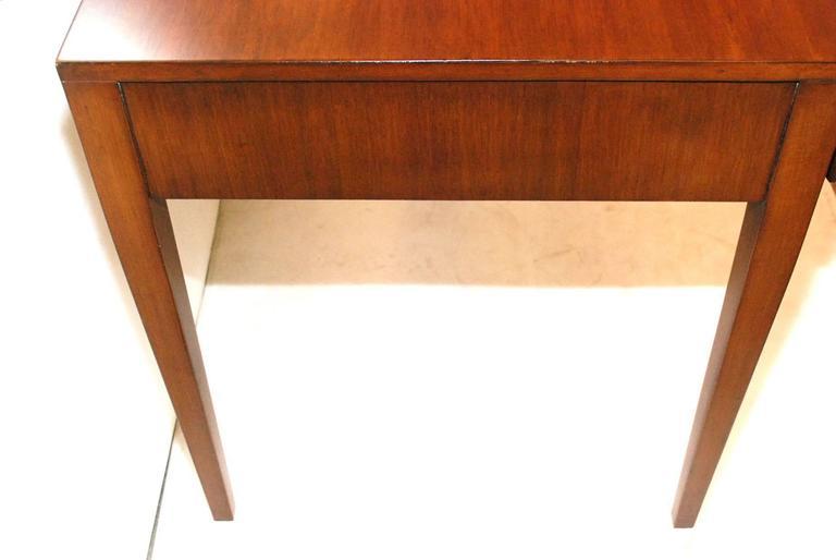Nickel Rare Gio Ponti Desk For Sale