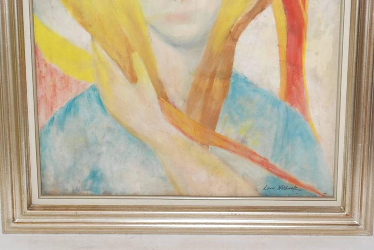Mid-Century Modern Louis Wolchonok Portrait Painting For Sale