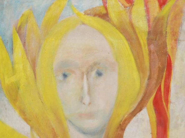 American Louis Wolchonok Portrait Painting For Sale