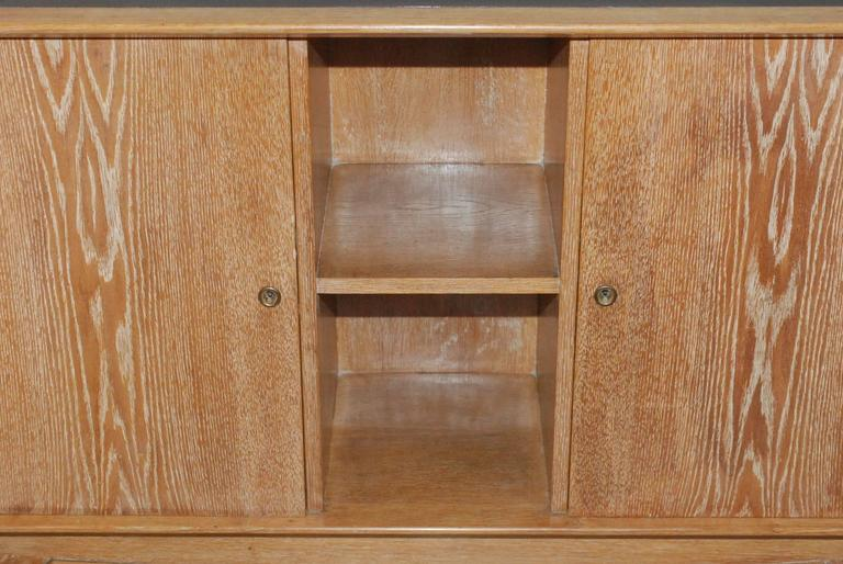 1940s French Cerused Credenza In Good Condition For Sale In Los Angeles, CA