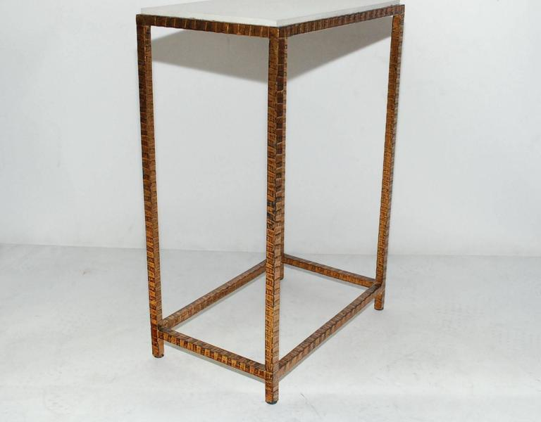 American Pair of Shagreen Side Tables