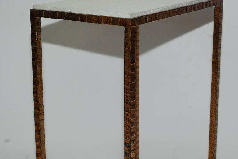 Pair of Shagreen Side Tables In Good Condition In Los Angeles, CA