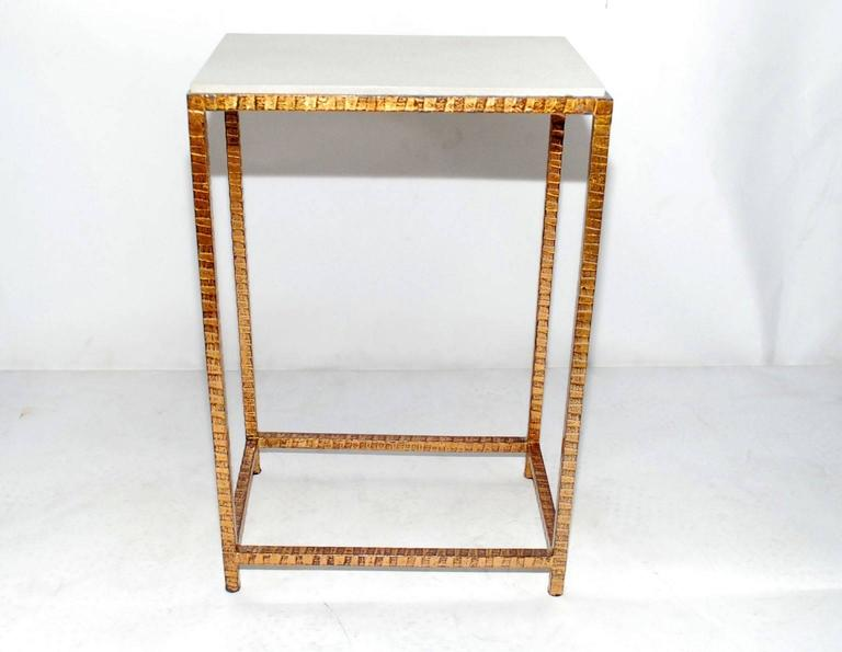 Late 20th Century Pair of Shagreen Side Tables