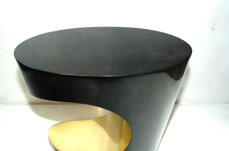 Pair of Parchment and Brass Side Tables 4