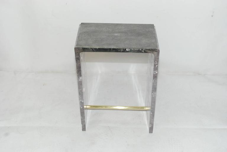 Pair of Shagreen Side Tables 2