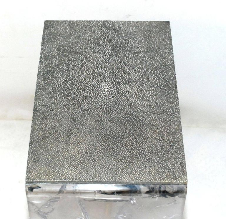 Pair of Shagreen Side Tables 7
