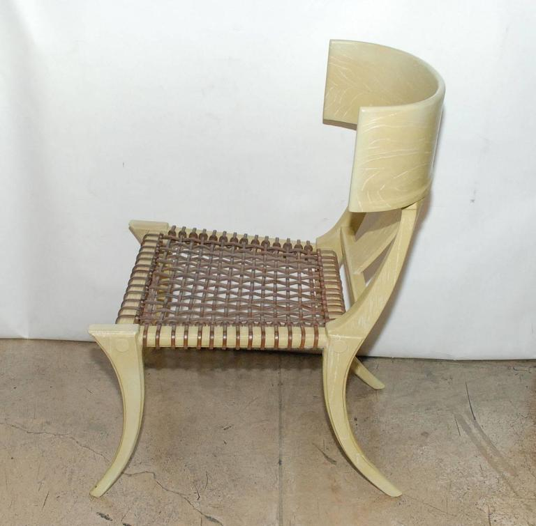 American Set of Four Klismos Form Side Chairs For Sale