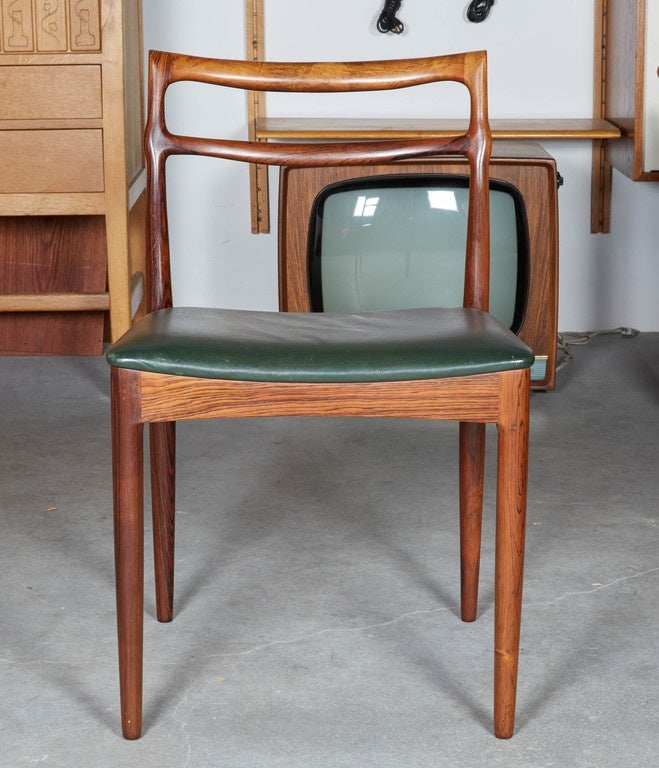 Rosewood Dining Room Chairs By Rosengren Hansen Set Of Six At 1stdibs