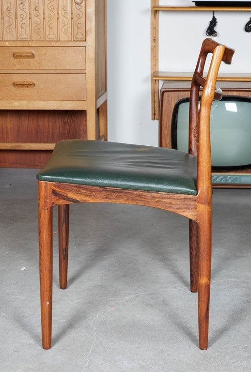 Rosewood Dining Room Chairs By Rosengren Hansen Set Of