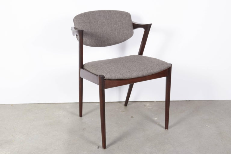 Kai Kristiansen No. 42 Rosewood Dining Chairs, Set of Eight 10