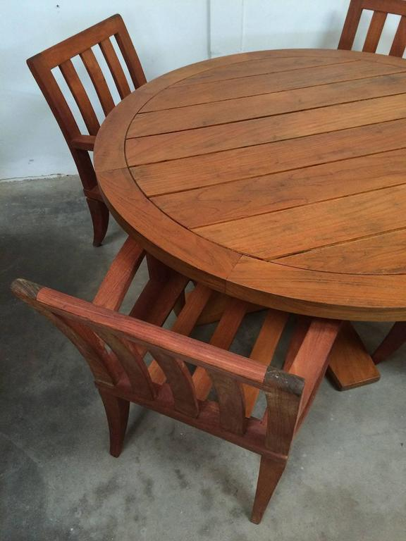 Teak Outdoor Dining Set Sturdy Table And Chairs At 1stdibs