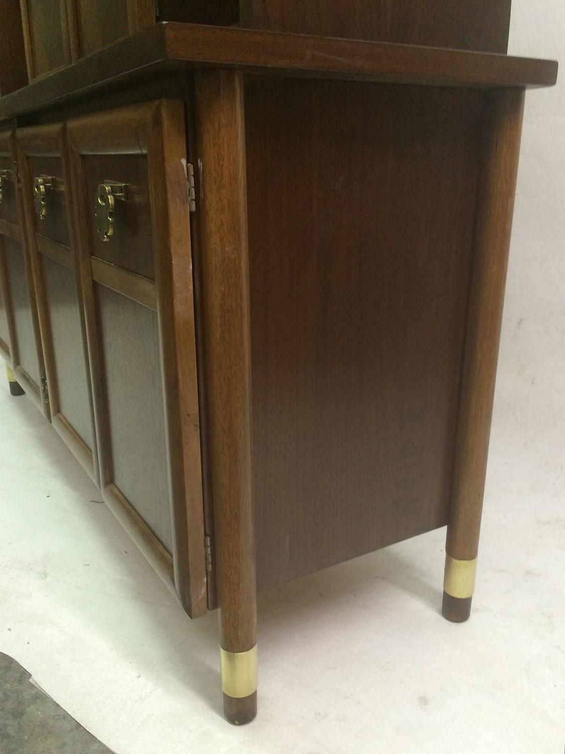 Mid Century Two Tier Walnut Buffet Or Credenza For Sale At 1stdibs. Full resolution  snapshot, nominally Width 1125 Height 1500 pixels, snapshot with #3A2C1C.