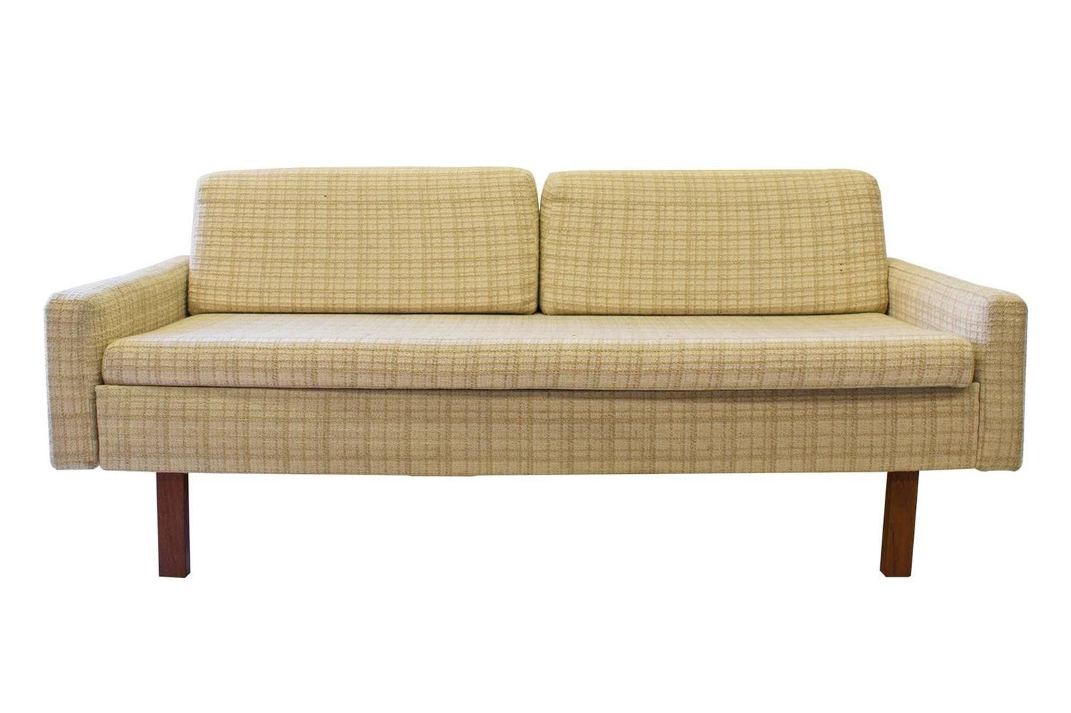 Mid Century Loveseat With Pull Out Side Table For Sale At