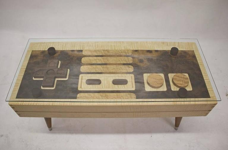 Controller Coffee Table Part - 43: Handcrafted Nintendo Video Game Controller Low Rectangular Wooden Coffee  Table 2