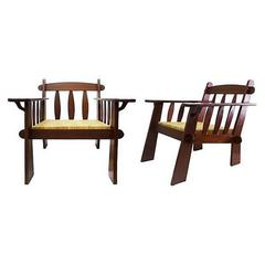 Pair of Arts & Crafts Style Teak Chairs