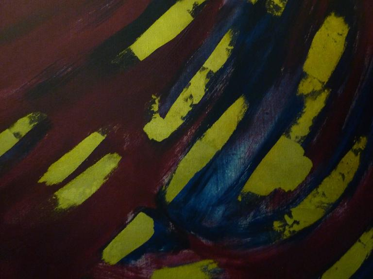 American Abstract Oil on Canvas by Bert Miripolsky For Sale