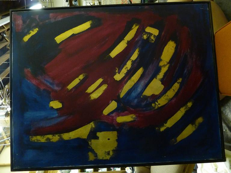 Abstract Oil on Canvas by Bert Miripolsky In Excellent Condition For Sale In Pasadena, CA