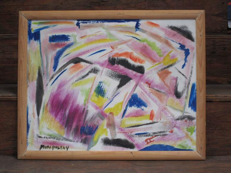 Bert Miripolsky created fine abstract impressionist paintings from the 1950s through the 1980s. Each painting is purposely nameless as he wanted each person to experience the art from their own perspective. An accomplished artist, Miripolsky has