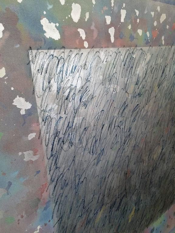 20th Century Large Gerald Campell Abstract Expressionist Painting For Sale