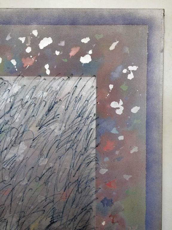 Paper Large Gerald Campell Abstract Expressionist Painting For Sale