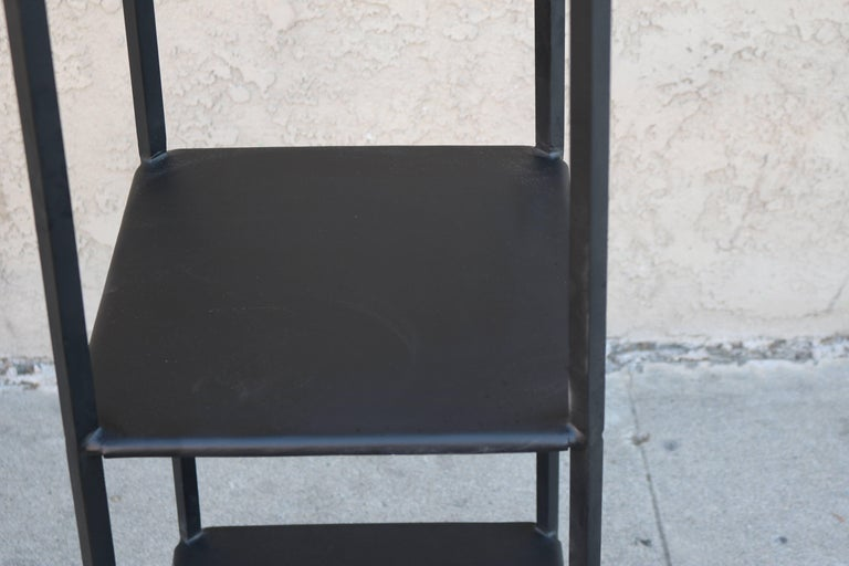 Black Metal Etagere with Graduated Shelves 4