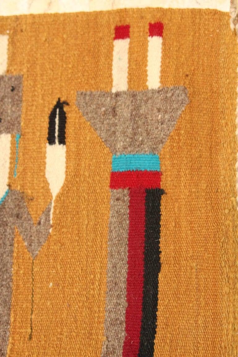 Vintage Yei Woven Navajo Rug For Sale At 1stdibs