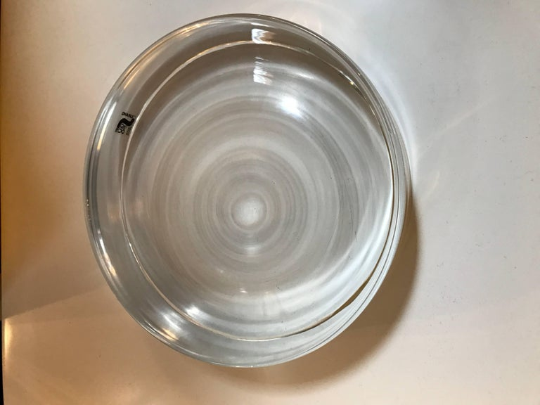 Clear Murano Glass Catchall or Ashtray Signed Seguso 5