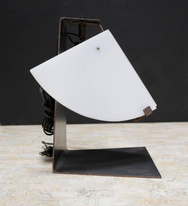 Quart de rond table lamp in the manner of pierre chareau for Table quart de rond