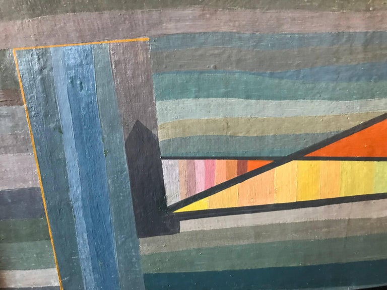 Mid-Century Modern Constructivist Oil Painting by David Segel For Sale