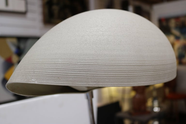 1970s Floor Lamp with Shell Shaped Shade 2