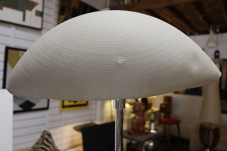 Mid-Century Modern 1970s Floor Lamp with Shell Shaped Shade For Sale