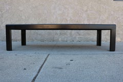 Black Stained Parson Coffee Table