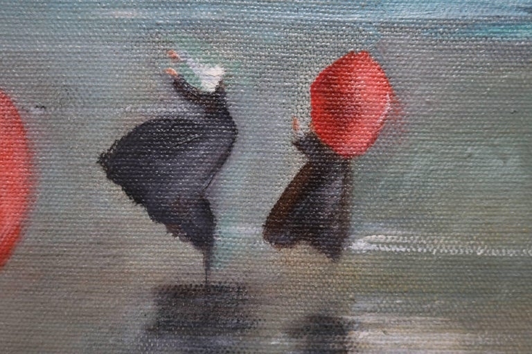 American Nuns by the Shore Oil Painting For Sale